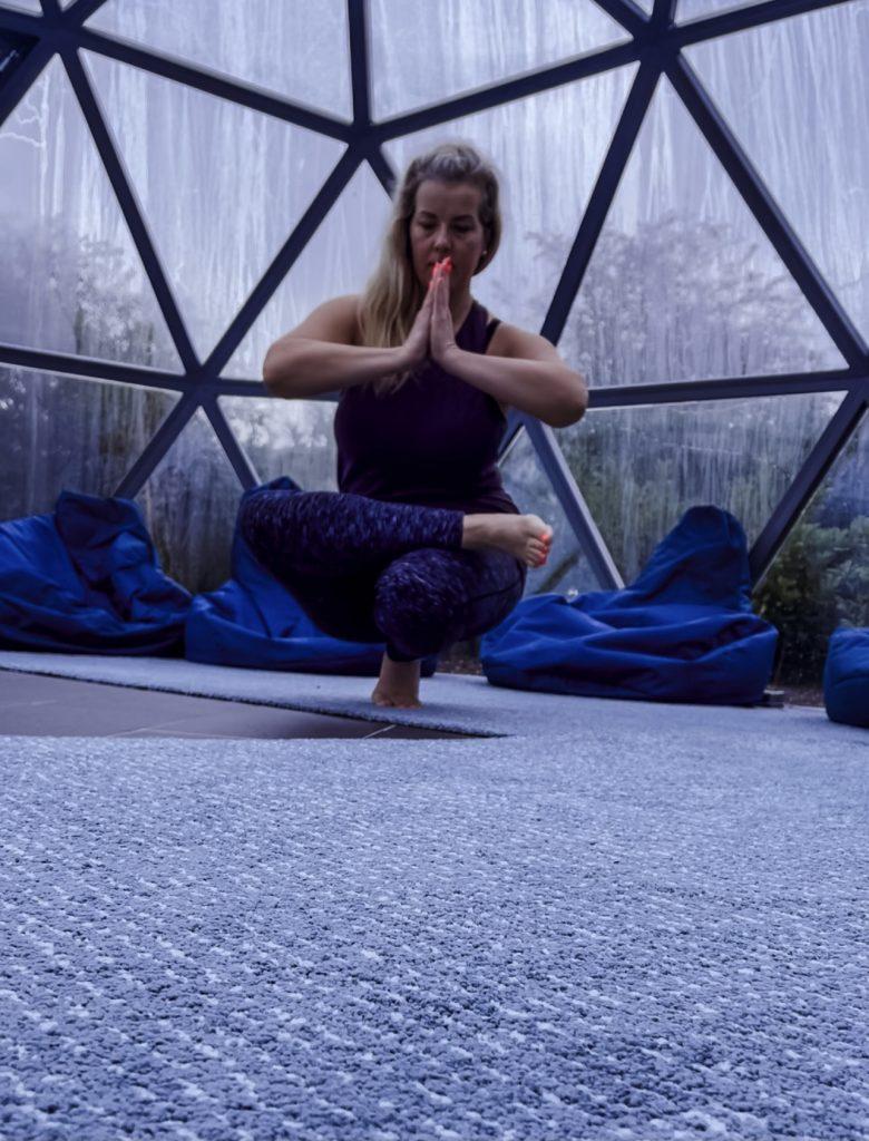 Nadine Hill yoga toe pose